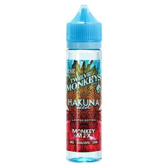 Twelve Monkeys - Ice Age Series - Hakuna Iced 50ml Short Fill E-Liquid TMFLD7TMI5000