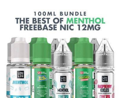 Best Menthol E-Liquids 10 x 10ml Bundle - 12mg VBBU99BME72A2