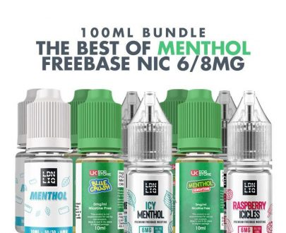 Best Menthol E-Liquids 10 x 10ml Bundle - 6/8mg VBBU90BME6198