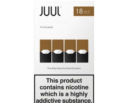 JUUL Pods Rich Tobacco x 4 - New Juul Pods - Tobacco Flavour JUPOF1PYT1018