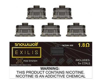 SnowWolf Exilis XPOD Replacement Coils x 5 SWPOB6SEE12DQ