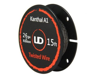 UD Kanthal A1 26ga + Ribbon 15ft Twisted Wire UDAKKG15PLR68