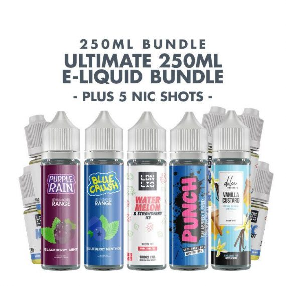 Ultimate 250ml E-liquid Bundle - Free UK Delivery UEBU95U2E2500