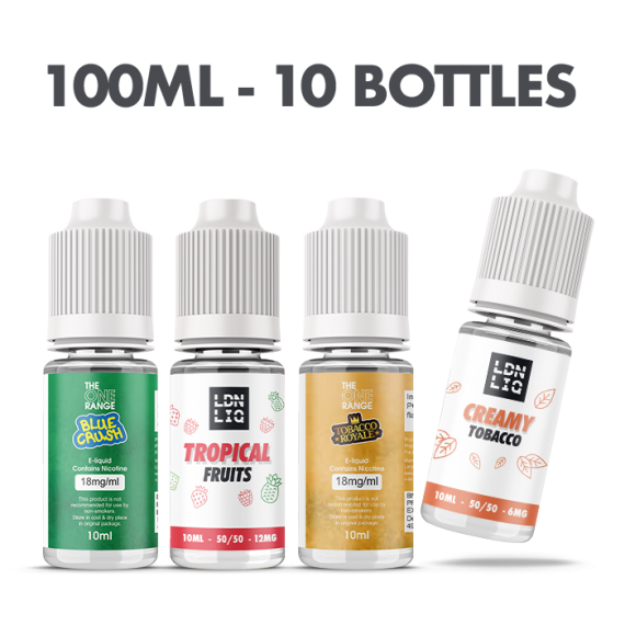 The 10ml E-liquid Vape Subscription Box 10 Bottles Medium Strength UKECSSUB10MLMED