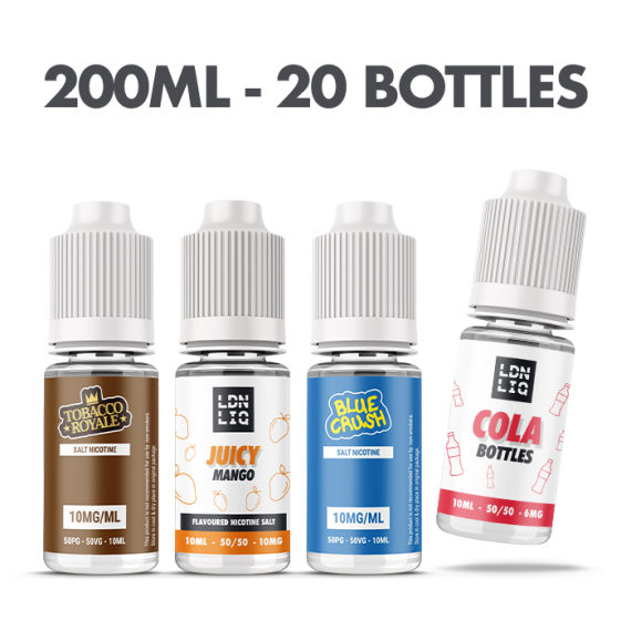 The 10ml E-liquid Vape Subscription Box 20 Bottles - Ultimate Flavour  UKECS 10ml 0mg 20