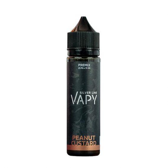 Vapy Silver Line Peanut Custard 50ml Short Fill E-Liquid VAEL4CSLP5000
