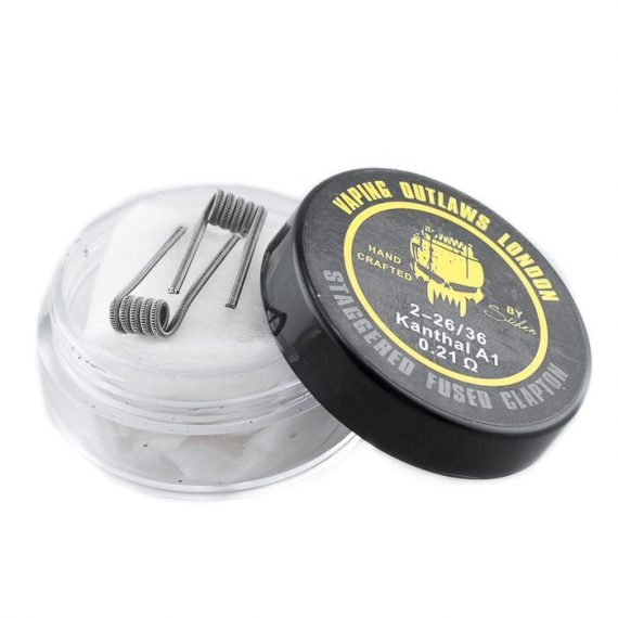 Vaping Outlaws Staggered Fused Clapton Coils VOAC66SFCA43C