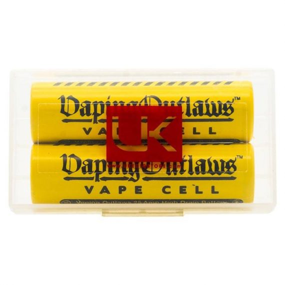 Vaping Outlaws Vape Cell 18650 25A 2500mAh Battery Twin Pack VOAC0EVC19FC0