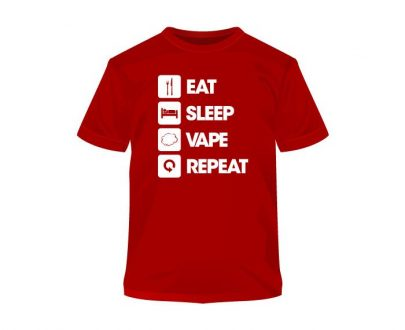Eat Sleep Vape Repeat T-Shirt UEAC93ESVB1Y9