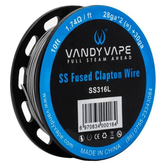 Vandy Vape - Fused Clapton Wire SS316L VVACFFFCW6F22