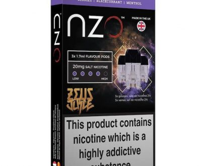 NZO Zeus Black Reloaded Pods - Free UK Delivery NZPOA9ZBR1720